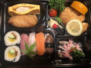 寿司工房 空「にぎりとマグロフライ弁当 1000円」